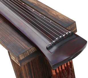Professional Aged Fir Wood Guqin Instrument Chinese 7 String Zither Liang Luan Style