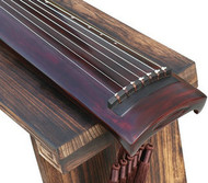 Buy Professional Aged Fir Wood Guqin Instrument Chinese 7 String Zither Zheng He Style