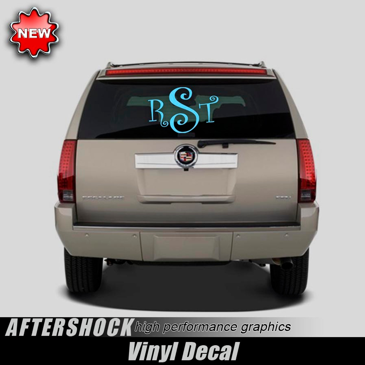 Monogrammed Rear Window Decal X Aftershock Decals - Rear window decals for vehicles