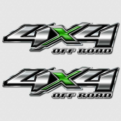 4x4 Green Hulk Silverado Off Road Truck Decals