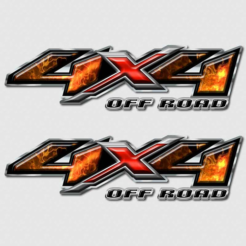 4x4 Firefighter Silverado Off Road Truck Decals