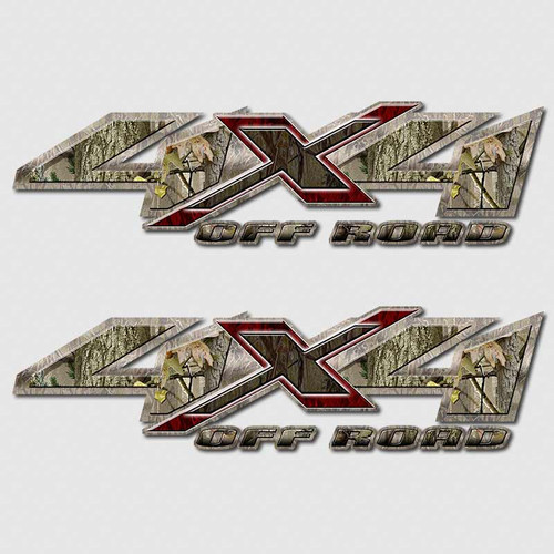 4x4 Twisted Timber Camouflage Shadow X Truck Decals