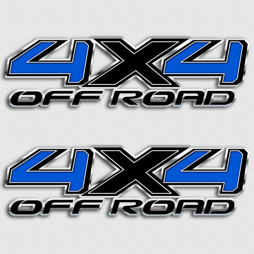 Black Blue 4x4 Tundra Truck Decals
