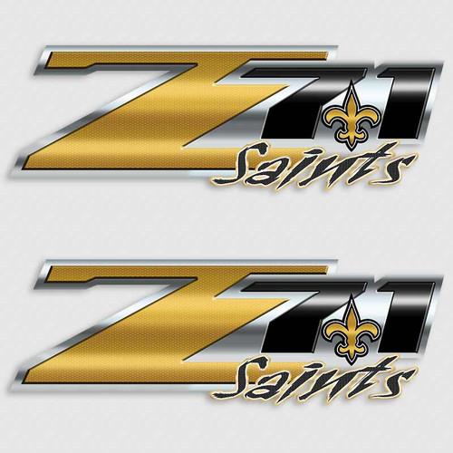 Z71 New Orleans Saints Football Truck Decals