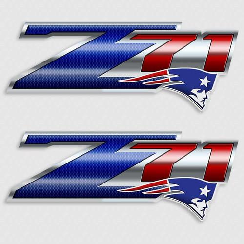 Z71 New England Patiots Football Truck Decals