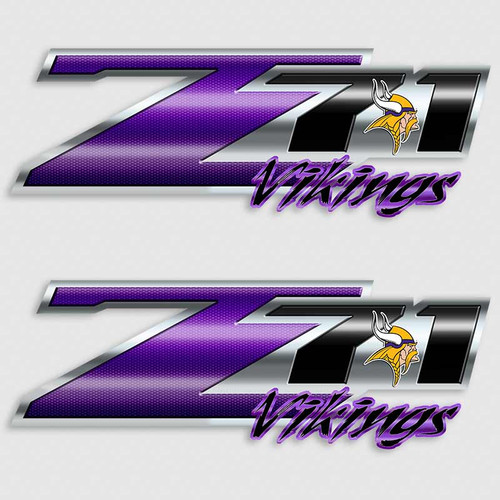 Z71 Vikings Football Truck Decals