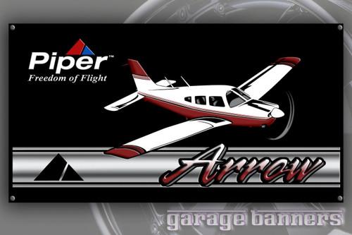 Piper Arrow Aircraft Banner