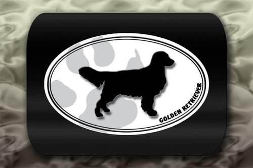 Golden Retriever Dog Paw Oval
