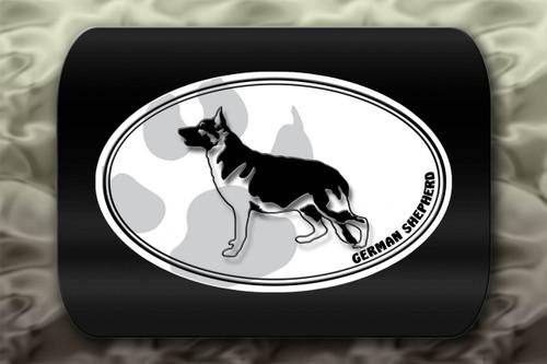 German Shepherd Dog Paw Oval