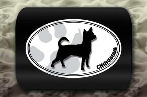 Chihuahua Dog Paw Oval