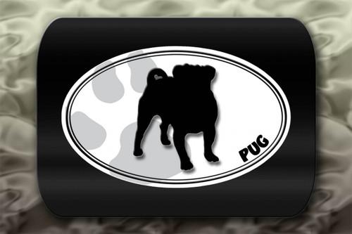 Pug Dog Paw Oval