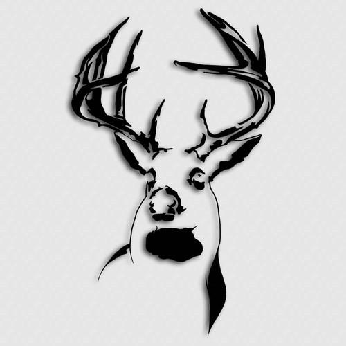 Whitetail Ranch Buck Deer Decal