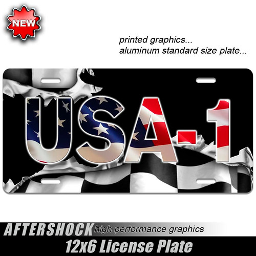 USA-1 American Flag Plate
