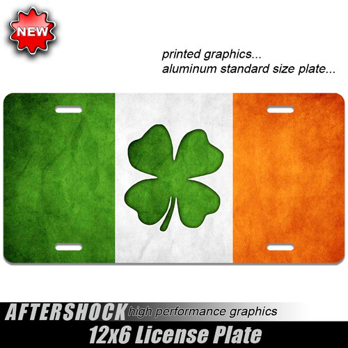 Lucky Irish Clover Flag Plate