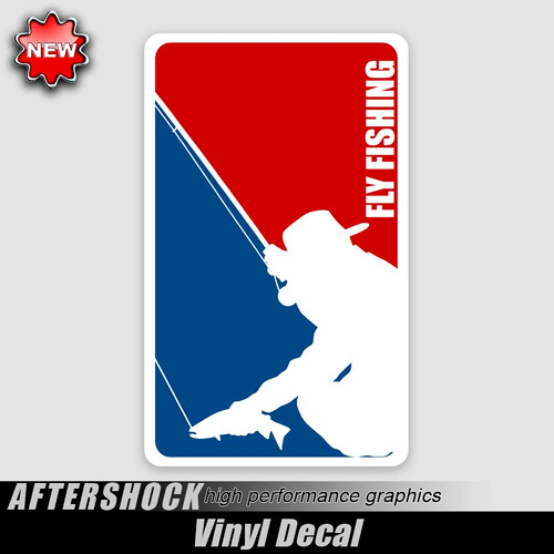 Fly Fishing Logo Sticker