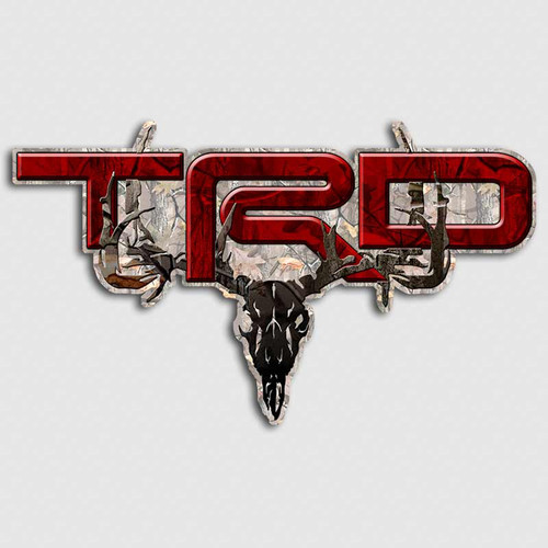 TRD Timber Skull Red Camo Toyota Truck Decals