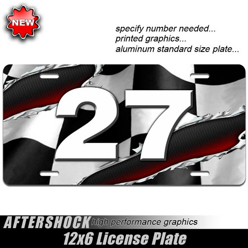Custom Number Racing Plate