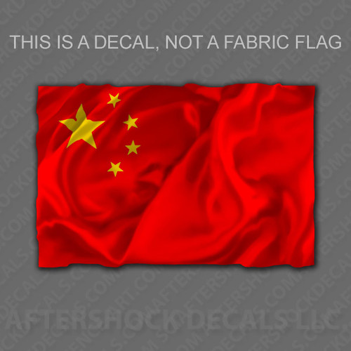 China Flag Sticker
