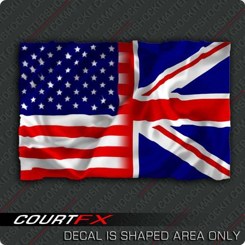 American/British Flag Sticker