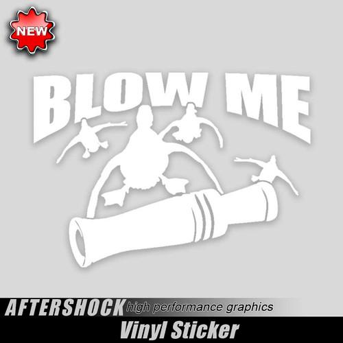 Blow Me Call Duck Sticker