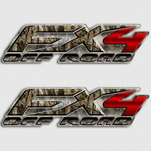 FX4 Camouflage Red Truck Decals