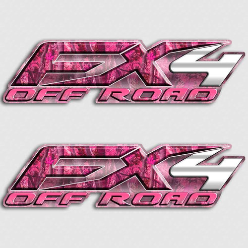 Pink Camo FX4 Girl Stickers