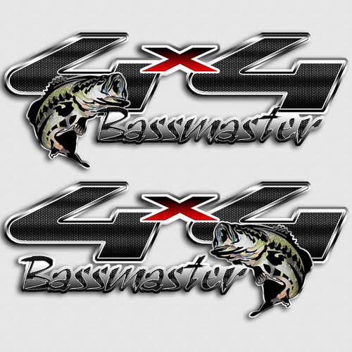 4x4 Bassmaster Fishing Ford Truck Decals