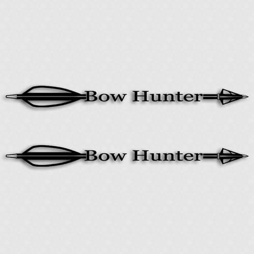 Bow Hunting Arrow Decal Set