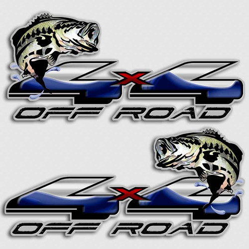 4x4 Bass Fishing Ford F-150 Decals