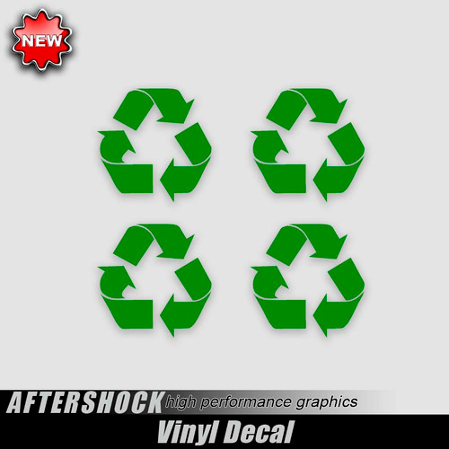 Recycle Green Earth Decals