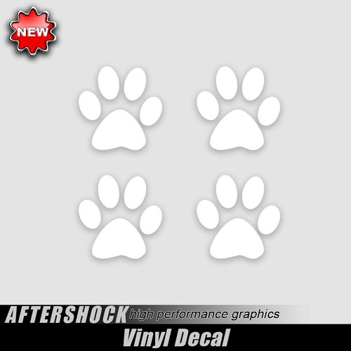 Dog Paw Puppy Print Decals