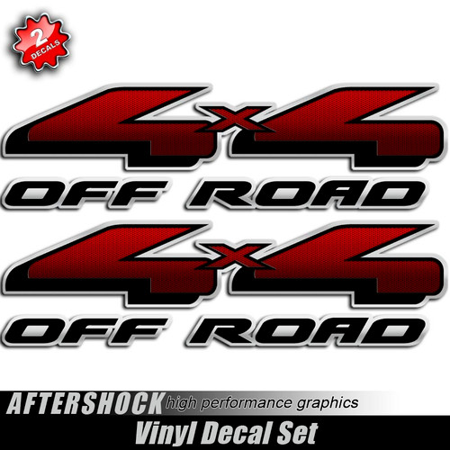 4x4 Carbon Fiber Red and Black Decals