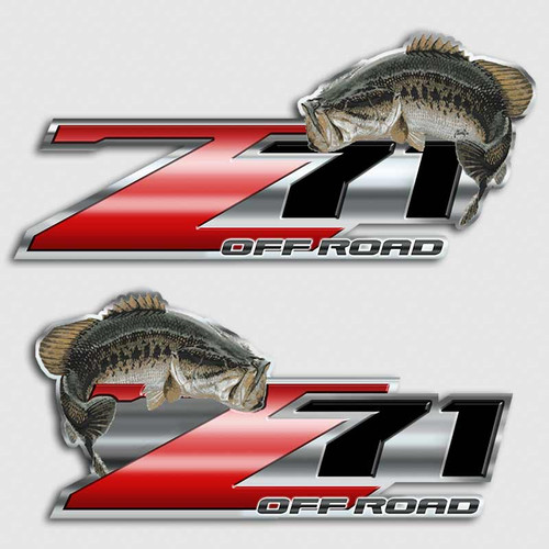 Flipping Bass Red Z71 Sticker Set