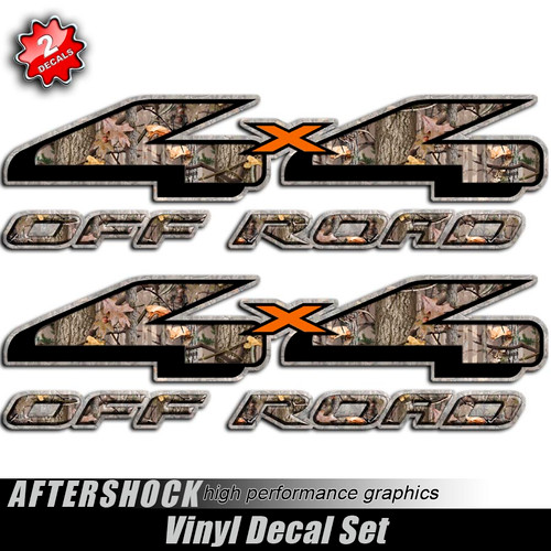 4x4 Twisted Timber Orange X Decals