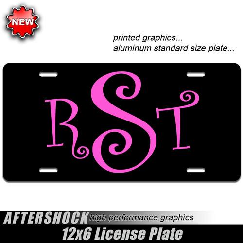 Monogram Vanity Plate (car or truck)