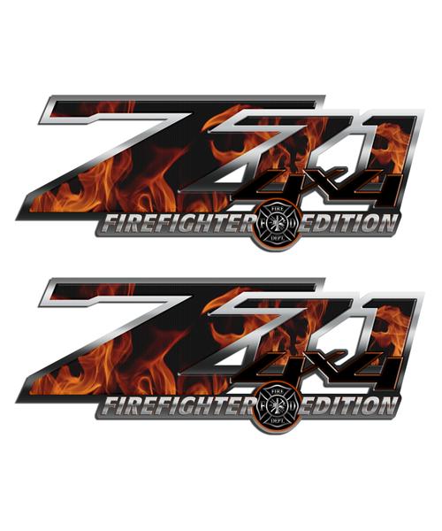 Firefighter Edition Z71 4x4 Sticker Set