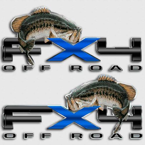 FX4 Bass Fishing F-150 Truck Decals