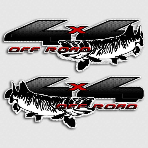4x4 Muskie Fishing Ford Truck Decals