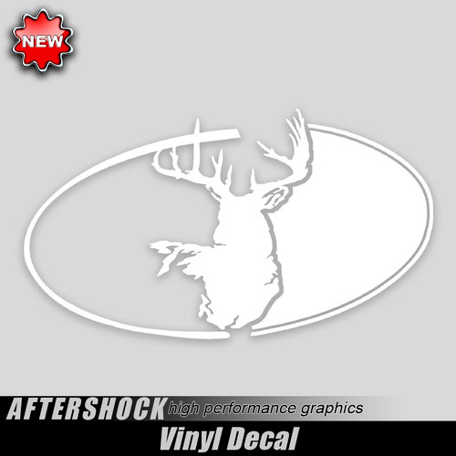 Midnight Buck Oval Decal