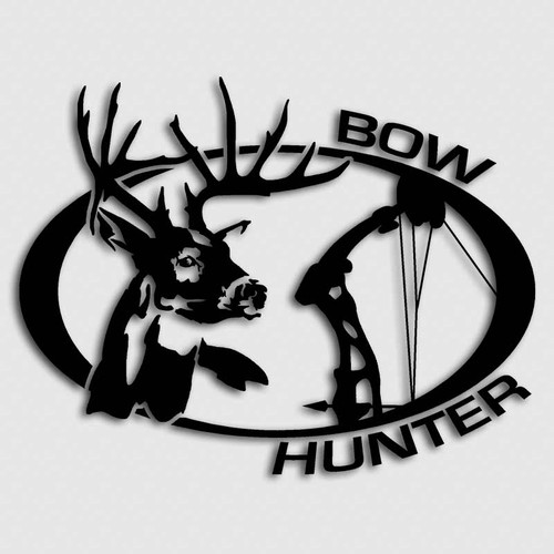 Bow Hunter Whitetail Deer Buck Decal