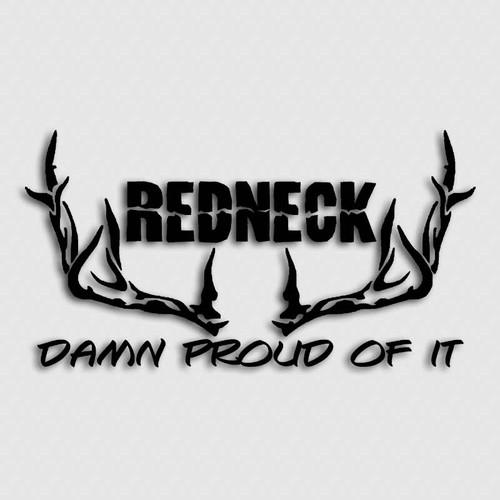 Damn Proud Redneck Deer Decal