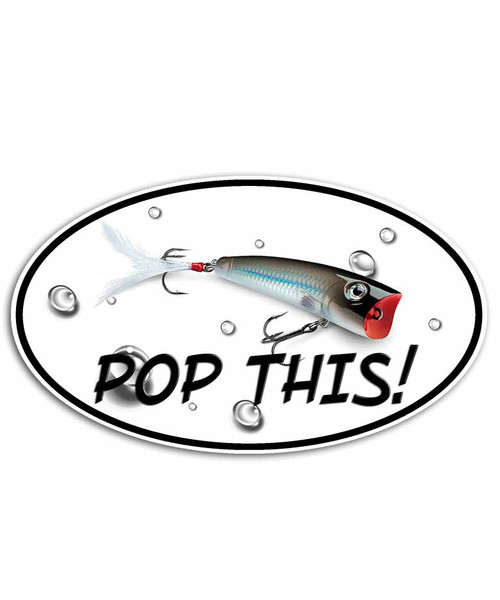 """Pop This"" Surface Plug Fishing Sticker"