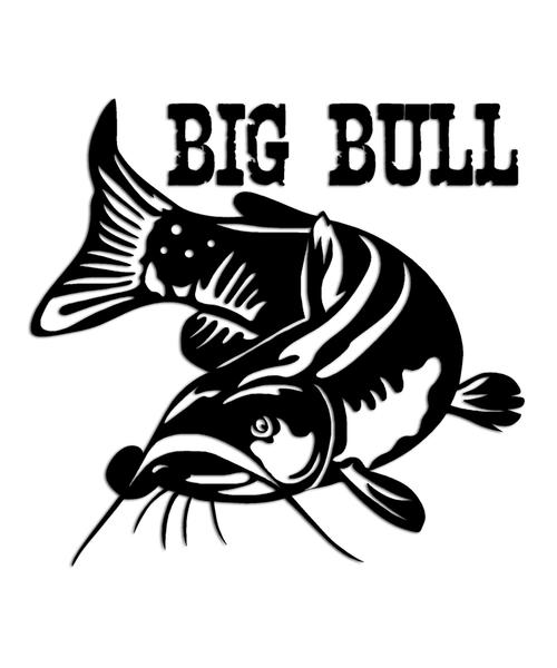 """Bullhead Catfish Sticker """"Big Bull"""""""