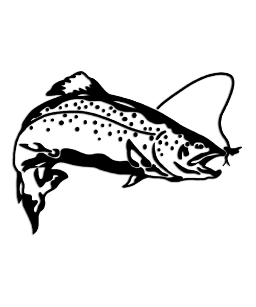 Rainbow Trout Fly Fishing Sticker