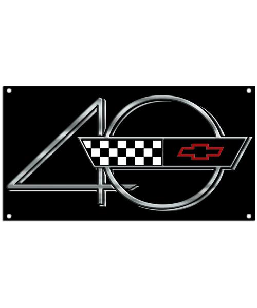 40th Anniversary Corvette Car Banner