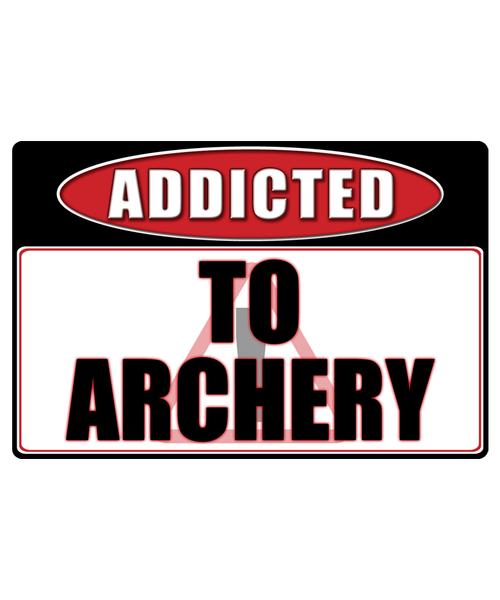 Archery - Addicted Warning Sticker