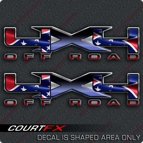 "4x4 Rebel Big ""X"" Decals"