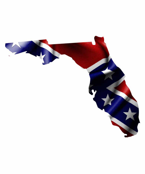 Florida Rebel Flag Sticker