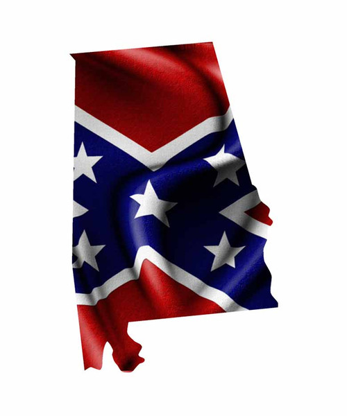 Alabama Rebel Flag Sticker