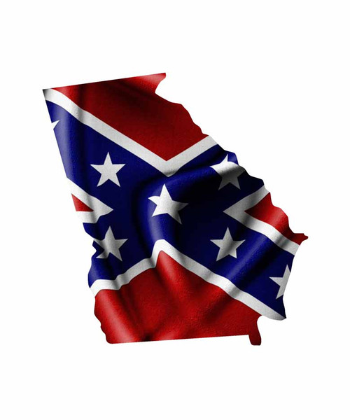 Georgia Rebel Flag Sticker